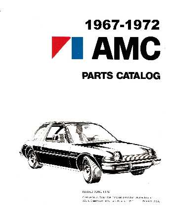 american motors parts book numbers interchange