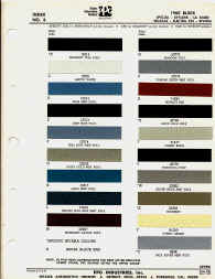 buick paint chips colors sample