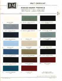 cadillac paint chips samples colors