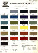 chevy car paint chips color samples