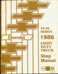 chevy truck shop service repair manual