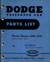 dodge car parts book numbers interchange