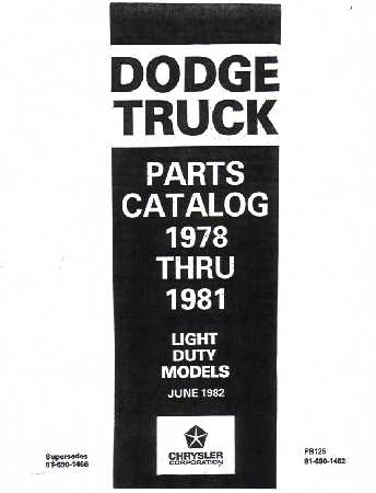 dodge truck parts book numbers interchange