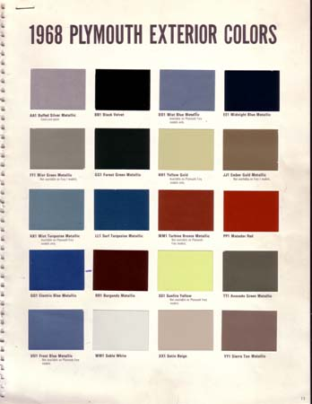 plymouth paint chips