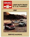 1987 CHEVROLET & GMC R/V 10-30 LIGHT DUTY TRUCK, SUBURBAN & VAN Body, Chassis & Electrical Service Manual