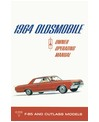 1964 OLDSMOBILE CUTLASS & F-85 Owners Manual