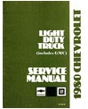 1980 CHEVROLET & GMC C/K 10-30 LIGHT DUTY, G & P SERIES Body, Chassis & Electrical Service Manual