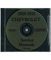 1929-33 CHEVROLET TRUCK Full Line Body, Chassis & Electrical Service Manual CD