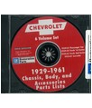 1929-61 CHEVROLET CAR & TRUCK, Body & Chassis, Text & Illustration Parts Book CD