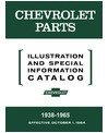 1938-64 CHEVROLET CAR & TRUCK Body & Chassis, Text & Illustration Parts Book