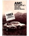1982-83 AMC Body, Chassis & Electrical Shop Service Repair Manual