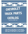 1938-69 CHEVROLET 10-60 SERIES LIGHT/MEDIUM DUTY TRUCK Body & Chassis, Text & Illustration Parts Book
