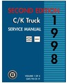 1998 CHEVROLET LIGHT DUTY C/K TRUCK Body, Chassis & Electrical Service Manual [eb11211R]