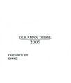 2005 CHEVROLET GMC PICKUP C/K TRUCK DIESEL SUPPLEMENT ONLY Owners Manual [eb11341R]