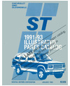 1991-1993 CHEVROLET S-T SERIES TRUCK Body & Chassis, Text & Illustration Parts Book [eb11579R]
