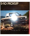 1987 CHEVROLET S-10 PICKUP TRUCK Sales Brochure