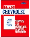 1976 CHEVROLET & GMC C/K 10-30 LIGHT DUTY TRUCK Body, Chassis & Electrical Service, Unit Repair/Overhaul Manual Supplement