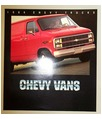 1984 CHEVROLET VAN Sales Brochure