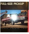 1987 CHEVROLET PICKUP TRUCK Sales Brochure