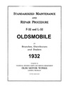 1932 OLDSMOBILE Full Line Chassis & Electrical Service Manual