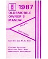 1987 OLDSMOBILE 98 REGENCY & DELTA 88 Owners Manual