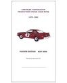 1975-80 CHRYSLER CORPORATION Production Option Code Book (Parts Interchange Book) by Galen Govier