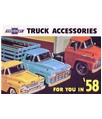 1958 CHEVROLET TRUCK Full Line Accessories Sales Brochure