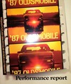 1987 OLDSMOBILE CUTLASS, FIRENZA & TORONADO Sales Brochure
