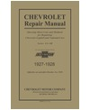 1927-28 CHEVROLET CAR & TRUCK Full Line Chassis & Electrical Sevice Manual