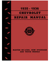 1935-36 CHEVROLET CAR & TRUCK Full Line Chassis & Electrical Service Manual