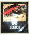 1984 CHEVROLET S-10 BLAZER Sales Brochure