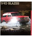 1987 CHEVROLET S-10 BLAZER Sales Brochure