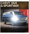 1987 CHEVROLET VAN & SPORTSMAN Sales Brochure