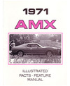 1971 AMC AMX Illustrated Facts & Features Sales Brochure