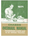 1971 CHEVROLET CAR & LIGHT DUTY TRUCK Unit Repair/Overhaul Manual