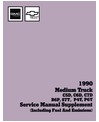 1990 CHEVROLET & GMC C/K 40-60 MEDIUM DUTY TRUCK Body, Chassis & Electrical Service Manual Supplement