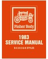 1983 BUICK, CADILLAC, CHEVROLET, OLDSMOBILE & PONTIAC (B,C,D,E,G & K) Body Only Service Manual