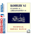 1962 AMC AMBASSADOR & CLASSIC Body, Chassis & Electrical Service Manual CD