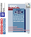 1990 CHEVROLET & GMC C/K 10-30 LIGHT DUTY TRUCK Body, Chassis & Electrical Service Manual CD w/Emissions Manual [eb5697N]