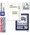 1980 OLDSMOBILE Full Line Body, Chassis & Electrical Service Manual CD