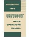 1959 CHEVROLET TRUCK Owners Manual