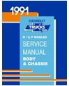 1991 CHEVROLET & GMC R/V 10-30 LIGHT DUTY TRUCK & SUBURBAN Body, Chassis & Electrical Service Manual