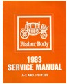 1983 BUICK, CADILLAC, CHEVROLET, OLDSMOBILE & PONTIAC (A,X & J) Body Only Service Manual