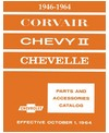1946-64 CHEVROLET CHEVELLE, CHEVY II, CORVAIR & NOVA Body & Chassis, Text & Illustration Parts Book