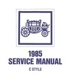 1985 BUICK ELECTRA, CADILLAC DEVILLE & FLEETWOOD, OLDSMOBILE 98 Body Only Service Manual