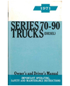 1971 CHEVROLET HEAVY DUTY (Series 10-90) Owners Manual