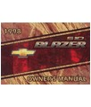 1998 CHEVROLET S-10 BLAZER Owners Manual