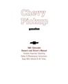 1981 CHEVROLET PICKUP TRUCK Owners Manual