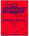 1929-41 CHEVROLET CAR & TRUCK Body & Chassis, Text & Illustration Parts Book