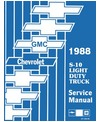 1988 CHEVROLET S-10, S-15 BLAZER & PICKUP Body, Chassis & Electrical Service Manual